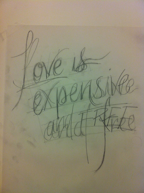 loveisexpensivesketch