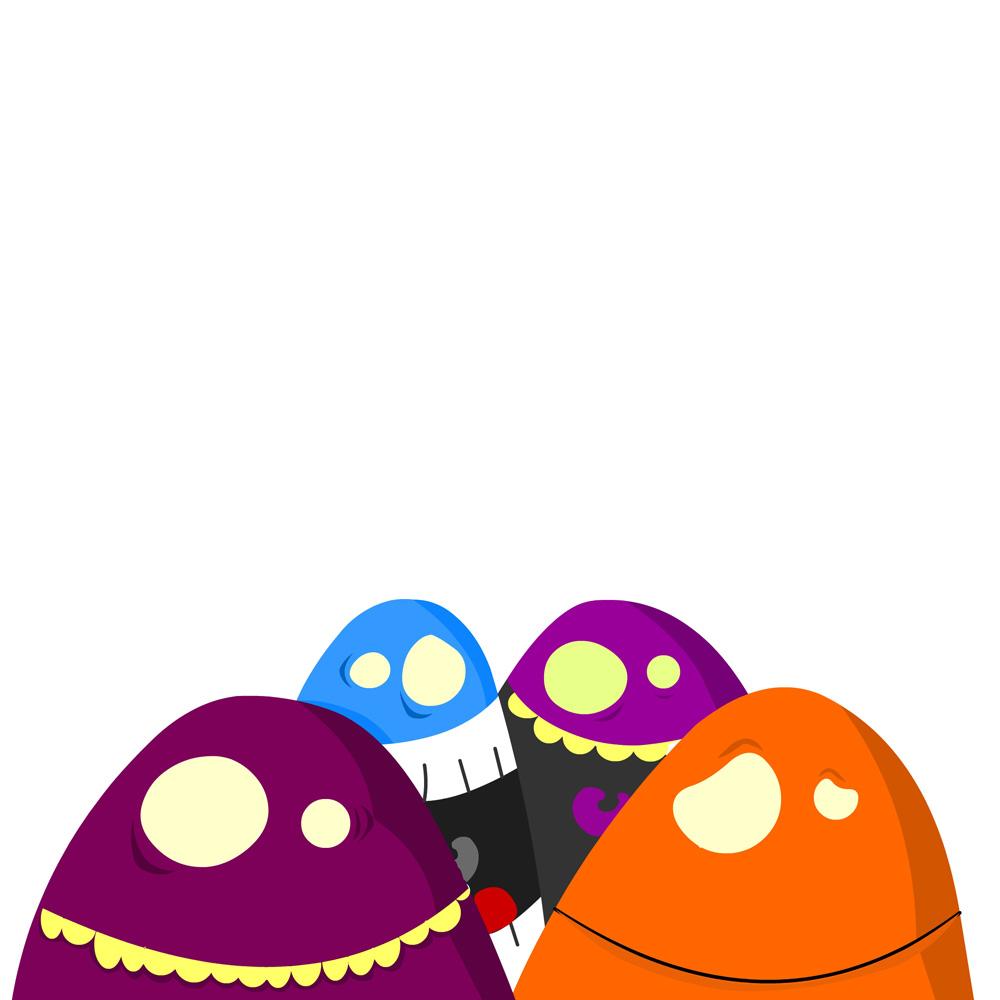 Monstruos coloridos